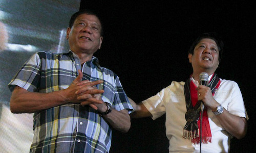 Installing Marcos as VP will immediately end all the plotting and scheming against Duterte