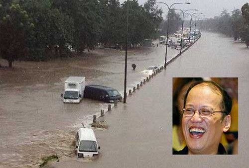 SLEX flooding by Laguna Lake
