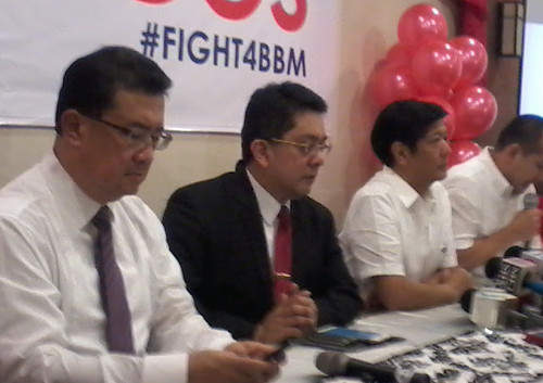 Bongbong Marcos press conference