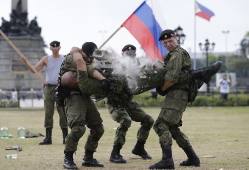 Russian marines in Manila
