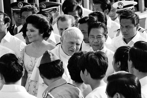 President Marcos and Pope John Paul II