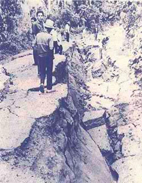 Ground fissures in Casiguran