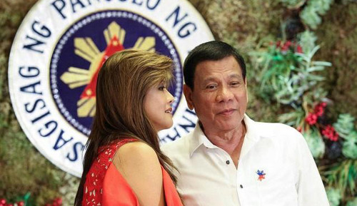 Imee Marcos with Duterte