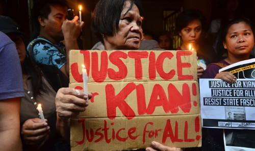Rally for Kian de los Santos