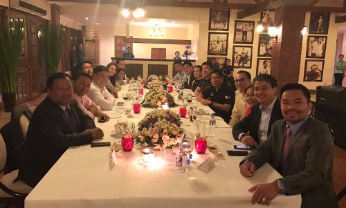 Senators with Duterte