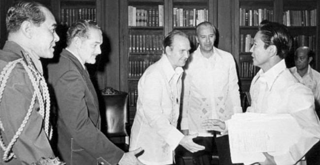 President Marcos in 1975