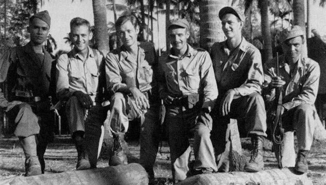 American and Filipino officers in the USAFFE during the World War II