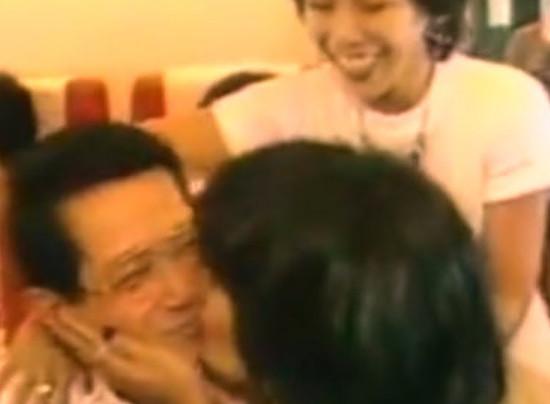 Ninoy Aquino kissed