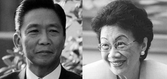 President Marcos and Cory Aquino