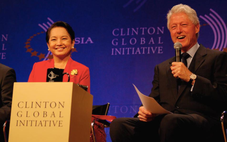 Bill Clinton and Gloria Macapagal-Arroyo