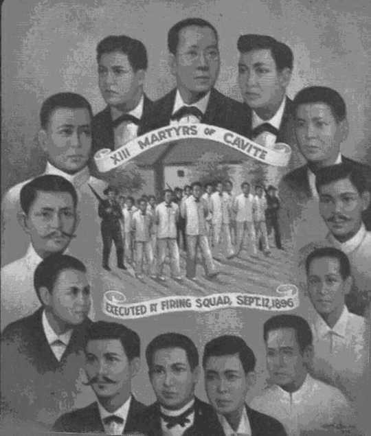 13 martyrs of Cavite were executed September 12, 1896