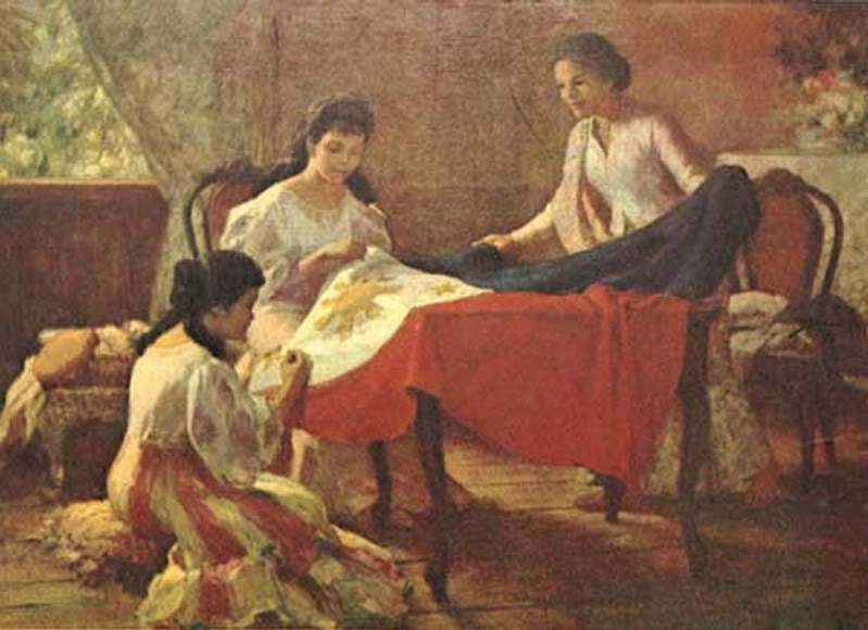 A small collection of Fernando Amorsolo's paintings