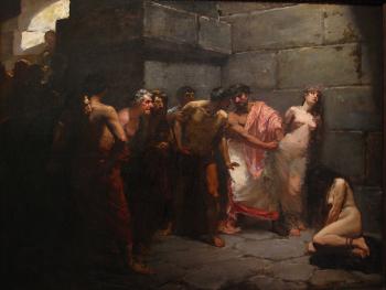 Las virgenes Cristianas expuestas al populacho, 1884, Metropolitan Museum of Manila