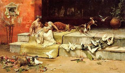 Damas Romanas, 1882 by Juan Luna