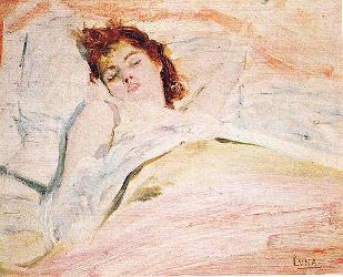 Ensueños de Amor, 1890 by Juan Luna