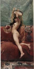 Nu femeni, 1885 by Juan Luna