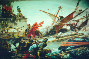 The Battle of Lepanto, painted by Juan Luna in 1887