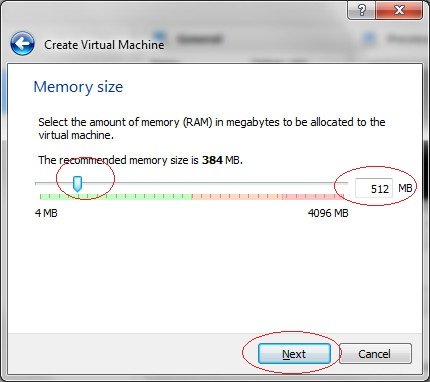 Configure RAM,  Step 2
