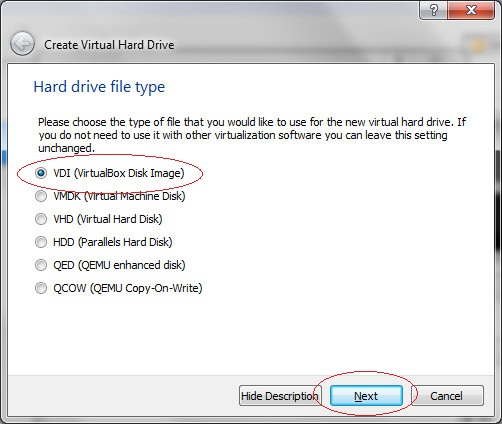Virtual Hard drive type,  Step 4