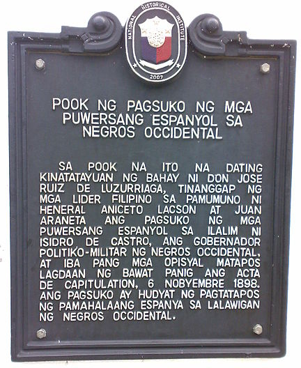 The Republic of Negros was founded November 7, 1898
