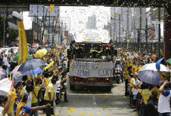 Casket of late former President Corazon Aquino on August 3, 2009