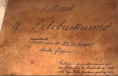 Rizal's El Filibusterismo was published in Belgium September 18, 1891