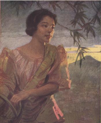Bicol Girl, pastel, by Fernando Amorsolo