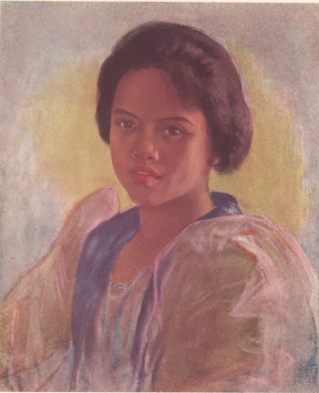 Manila Girl, pastel, by Fabian dela Rosa