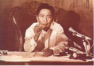 President Marcos declared Martial Law September 21, 1972