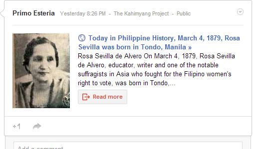 Google+ interactive post
