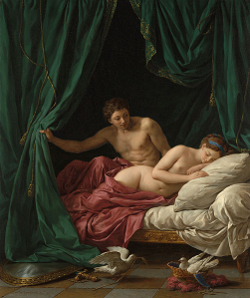 Mars and Venus,  Allegory of Peace.  Oil on canvas, 1770
