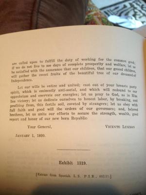 Lukban proclamation page 1