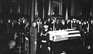 General MacArthur's at a private memorial at the 7th regiment armory