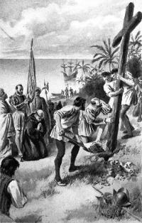 Magellan erected wooden cross on the shores of Cebu April 14, 1521