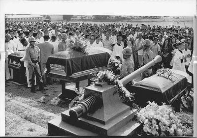 Ramon Magsaysay funeral in 1957