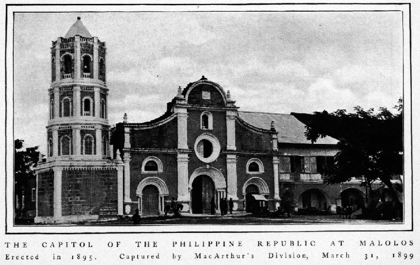 malolos republic Malolos congress in 1898 the church where the constitution was ratified the political constitution of 1899 ( spanish : constitución política de 1899 ), informally known as the malolos.