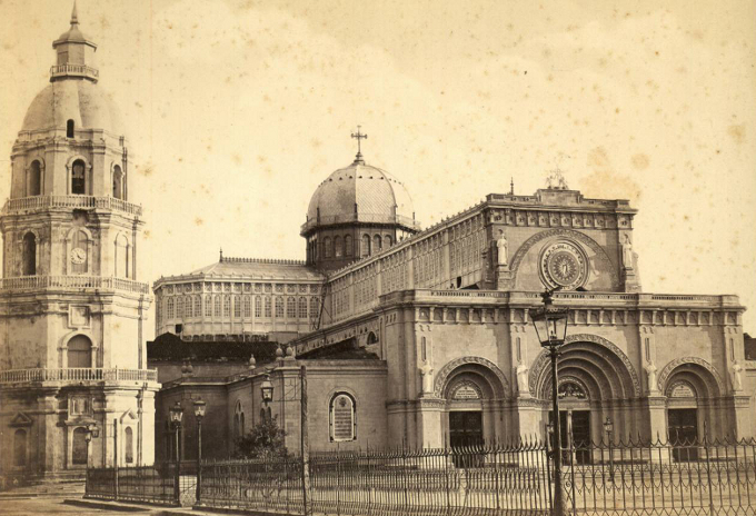 Manila Cathedral was established by decree of Gregory XIII December 21, 1581