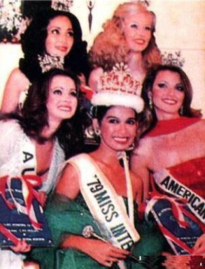 Melanie Marquez won the Miss International held in Tokyo November 12, 1979