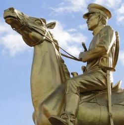 Monument of General Simeon Ola at Guinobatan, Albay town plaza