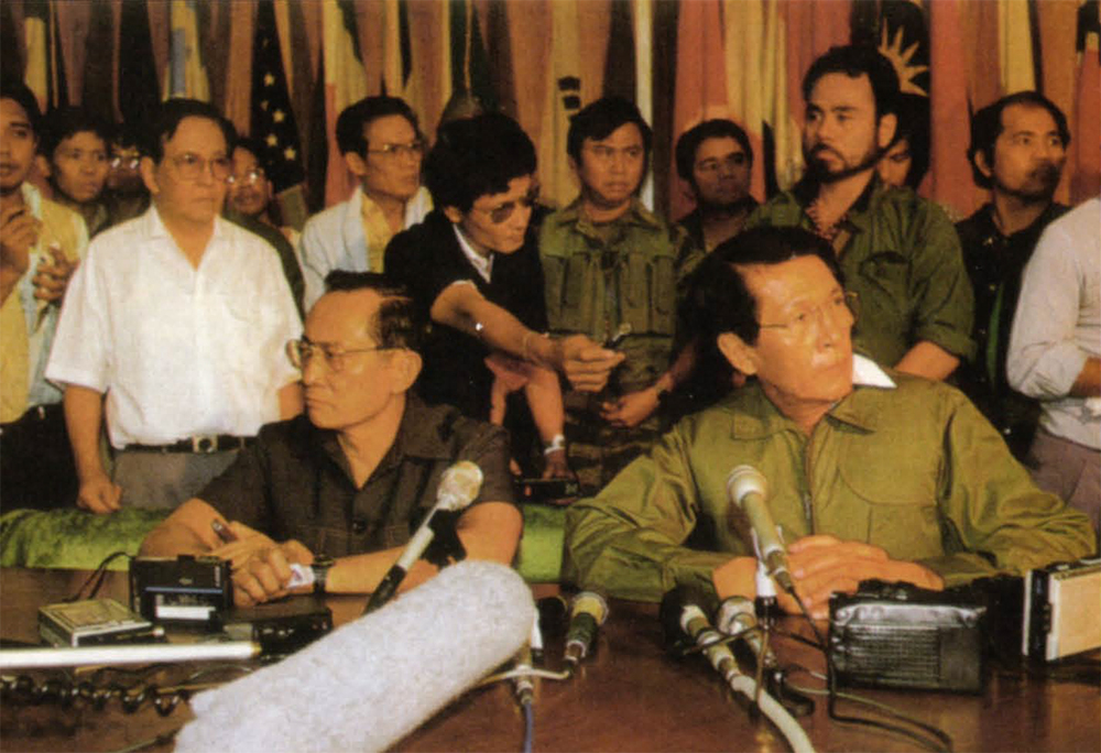 Juan Ponce Enrile and Fidel Ramos in 1986