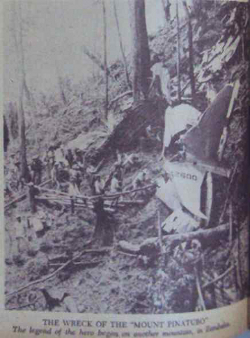 Mount Pinatubo Plane wreakage, Magsaysay plane
