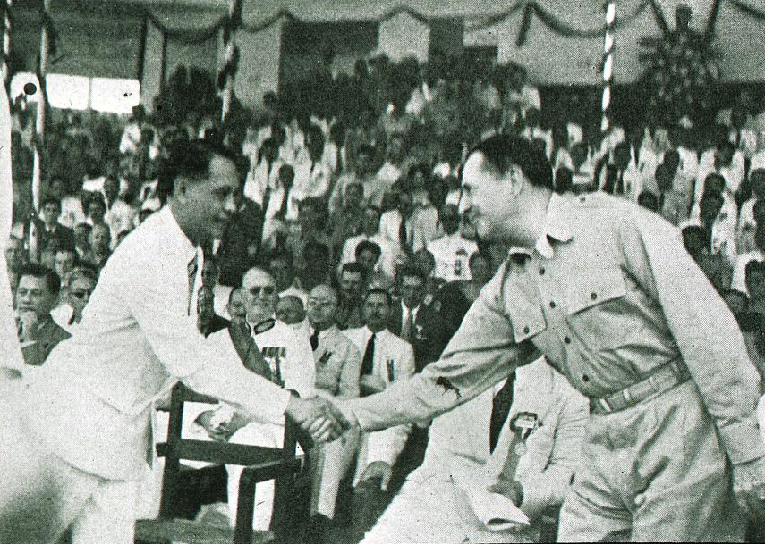 Image result for MacArthur - Roxas - Independence Day, manila 1946