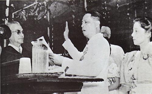 Manuel Roxas was elected President April 23, 1946