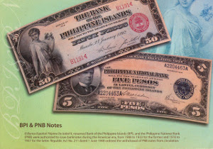 El Banco Espanol-Filipino De Isabel II, renamed Bank of the                            Philippine Islands (BPI), and the Philippine National Bank (PNB) were authorized to issue banknotes during the American era, from 1908 to 1933 for                            the former and 1916 to 1937 for the later