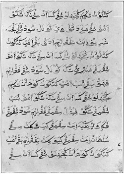Fourth page of the Sulu Code made and used by Sultan Jamalu-l-A'lam