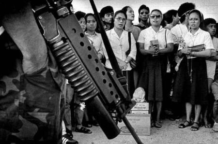 The fall of President Marcos