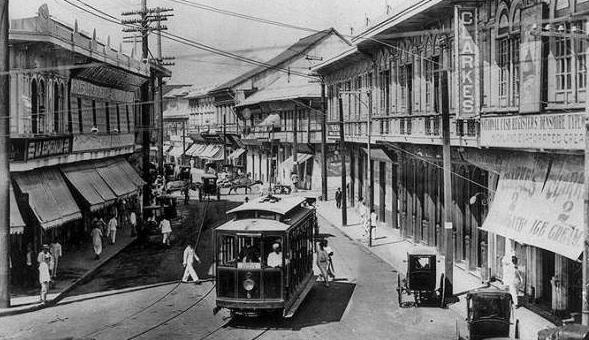 The 1900s Tranvia in Manila